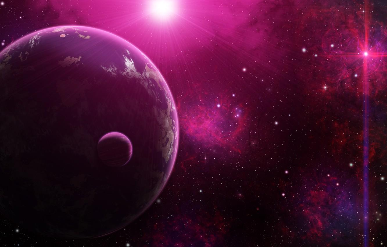 Фото обои космос, туманность, звёзды, space