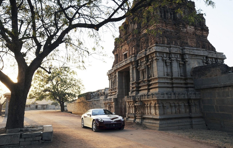 Фото обои car, wallpaper, ferrari, wallpapers, gates, indian, temple