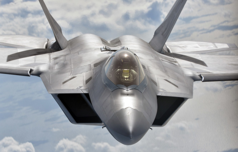 Фото обои истребитель, малозаметный, многоцелевой, F-22 Raptor