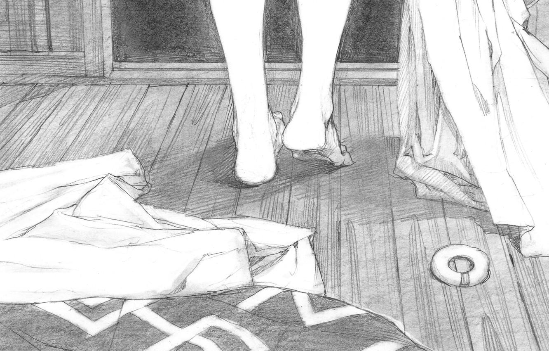 Фото обои ноги, одежда, рисунок, карандаш