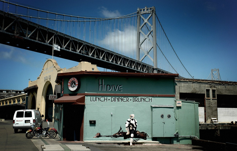 Фото обои мост, star wars, сан-франциско, закусочная, разведчик