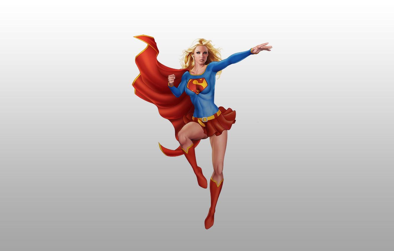 Фото обои герой, Супермен, комикс, Superman, Supergirl, Супердевушка