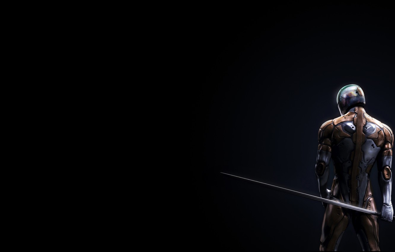Фото обои sword, armor, back, metal gear solid fox