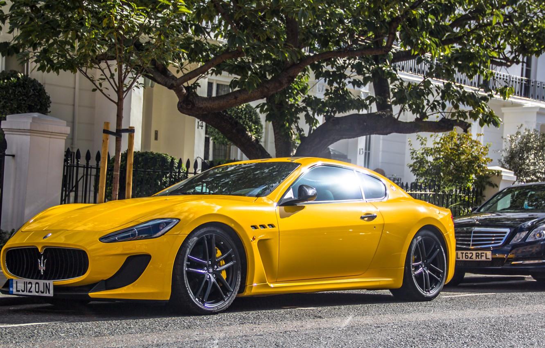 Фото обои желтый, Maserati, суперкар, yellow, мазерати, granturismo, грантуризмо