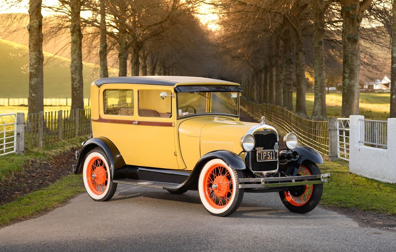 Фото обои ретро, Ford, классика, Tudor, 1928 Ford Model A Tudor