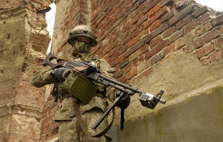 Фото обои оружие, война, Ukrainian Soldier
