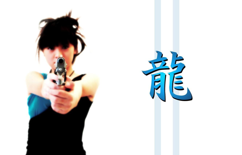 Фото обои белый, оружие, фон, японка, азия