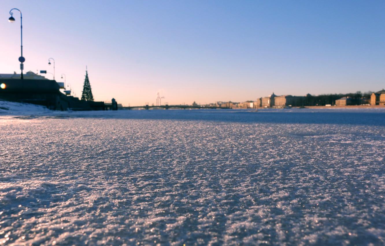 Фото обои лед, город, Санкт-Петербург, ice, Нева, St.Petersburg, Neva
