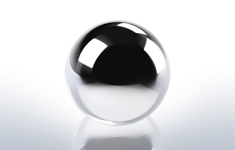 Фото обои фон, черно-белый, шар, прозрачная, сфера, хром