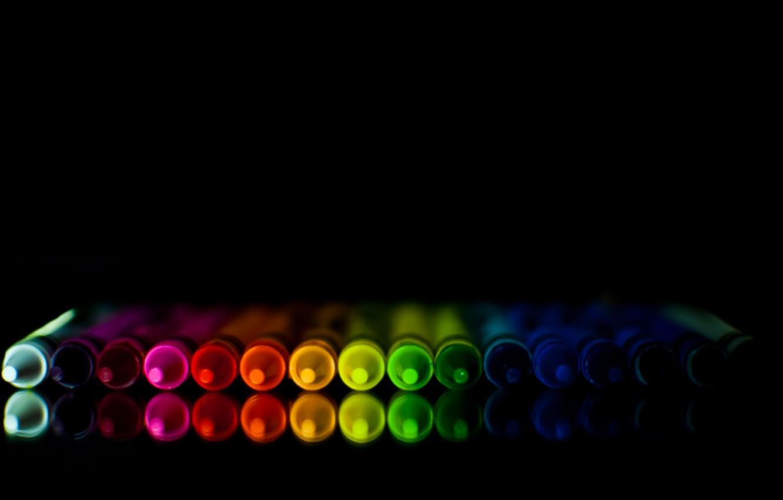 Фото обои отражение, цвет, карандаш