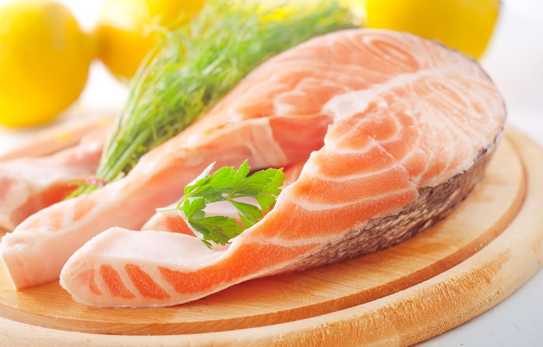 Фото обои еда, рыба, блюдо, лосось, стейк