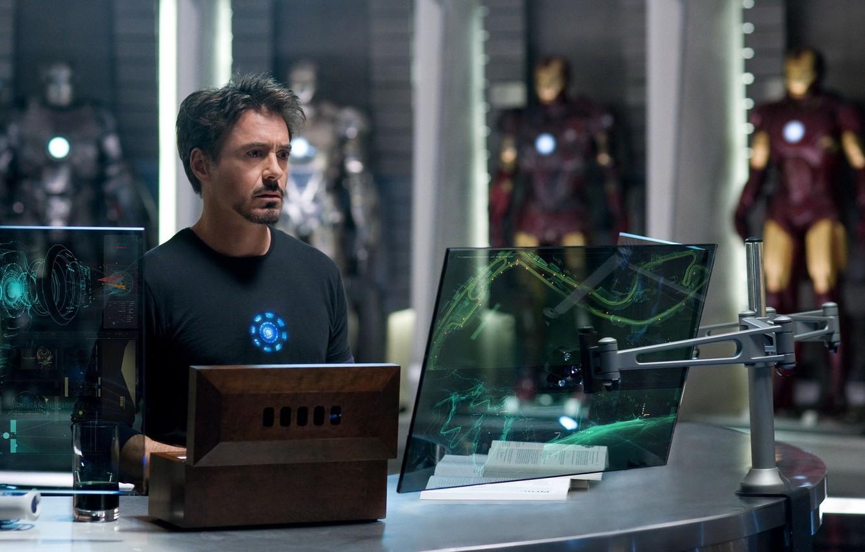 Фото обои Железный человек, Robert Downey Jr, Iron Man, Роберт Дауни младший, Тони Старк, Tony Stark