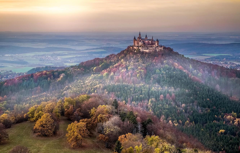 Фото обои Deutschland, Burg Hohenzollern, Baden-Württemberg