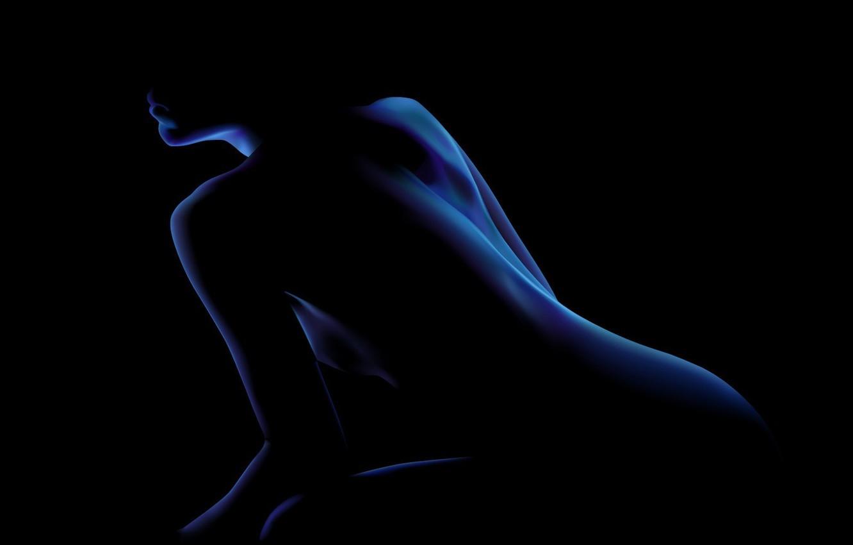Фото обои синий, черный, Образ