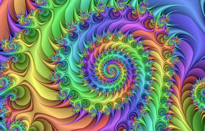 Обои краски, спираль, узор. Абстракции foto 10
