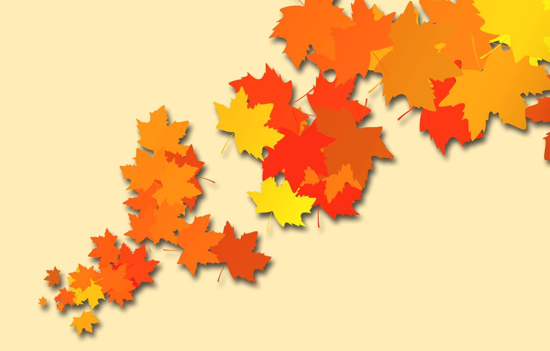 Обои осень, желтый, вектор. Минимализм foto 8