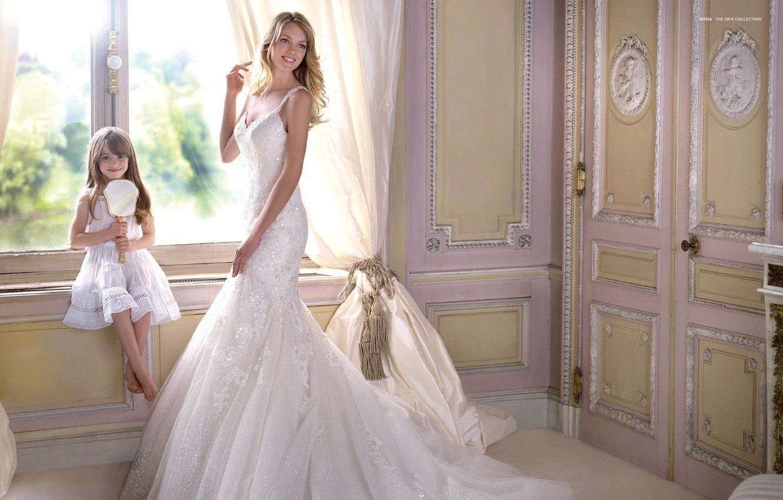 Фото обои улыбка, праздник, модель, платье, девочка, невеста, свадьба, Lindsay Ellingson