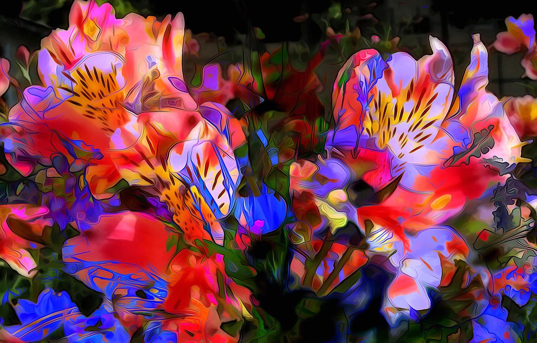 Обои краски, цветы. Абстракции foto 12