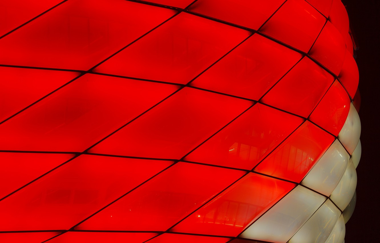Фото обои макро, огни, цвет, Мюнхен, стадион Альянц Арена
