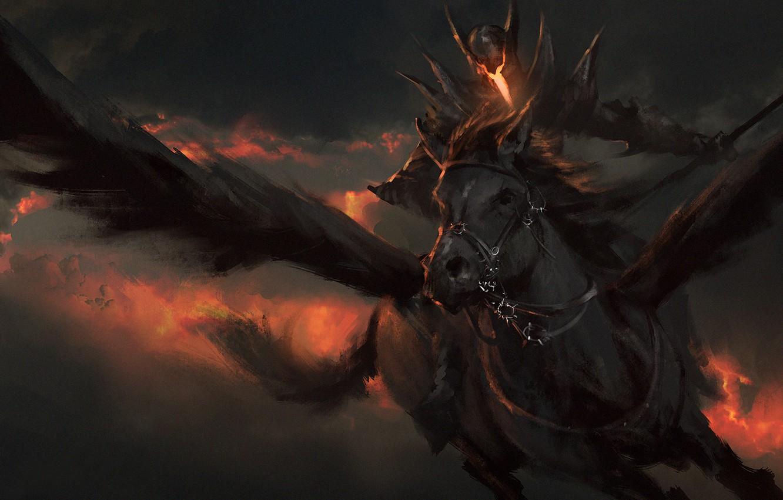 Фото обои небо, конь, Pegas