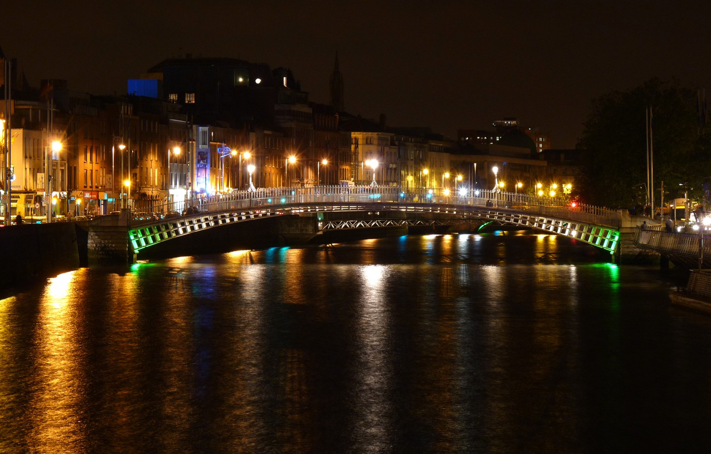 Обои ночь, канал, дома, Luneburgo, фонари, германия, saxony. Города foto 9