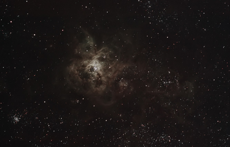 Фото обои туманность, Золотая Рыба, Тарантул, в созвездии, эмиссионная