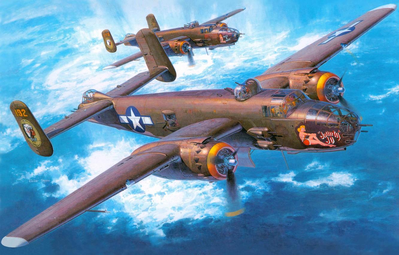Обои North american, b-25, двухмоторный, американский, средний. Авиация foto 18
