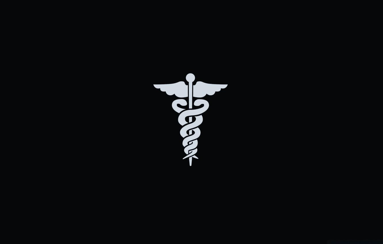 Фото обои черный, символ, медицина