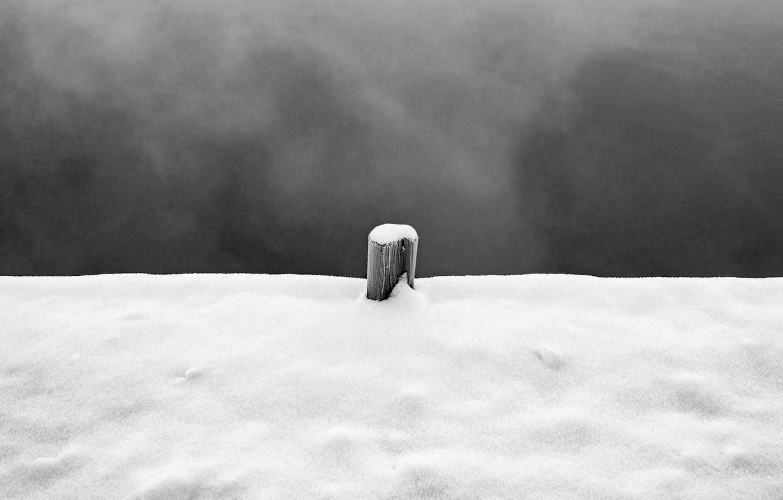 Фото обои sky, winter, snow, pillar