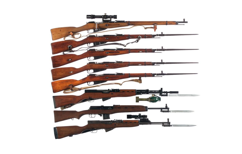 Фото обои оружие, фон, модели, винтовки, Мосина