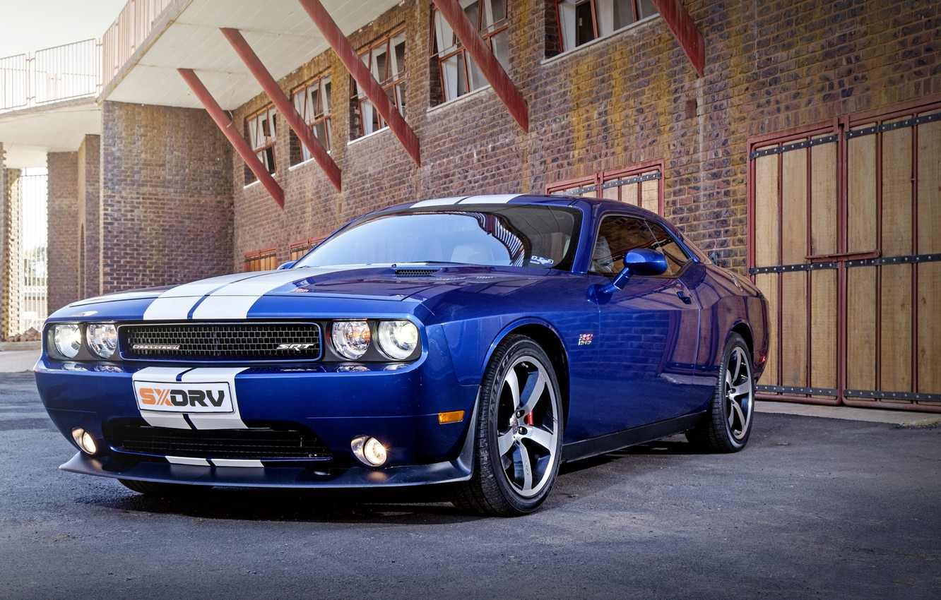 Фото обои Dodge, Challenger, Blue, SRT