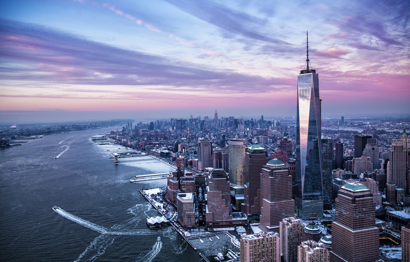 Обои river, сша, new york, manhattan, Nyc, new york city. Города foto 12