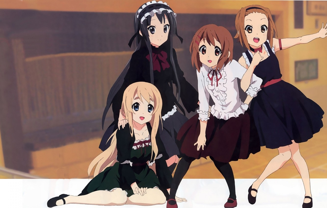 Фото обои Anime, K-ON, Japanese high school girls