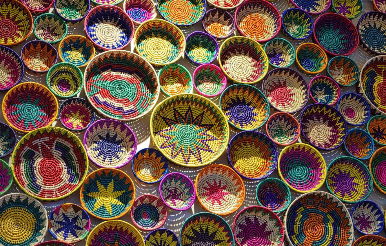 Фото обои цвет, форма, Baskets