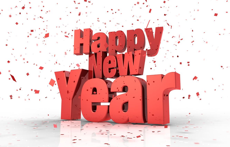 Фото обои Happy New Year, конфети, с новым годом