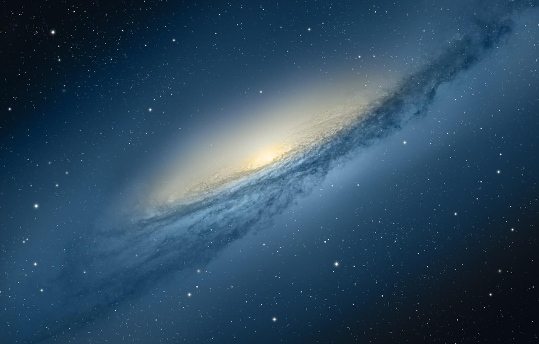 Фото обои космос, звезды, apple, галактика, mac os, mountain lion