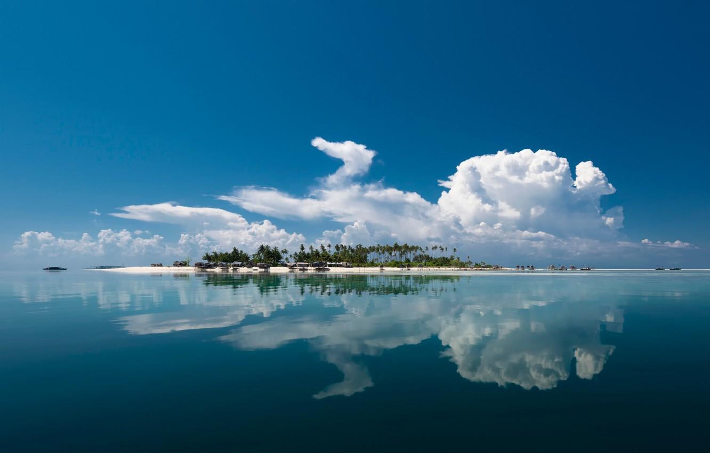 Обои Облака, остров. Природа foto 7