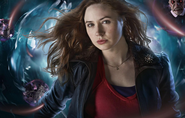 Фото обои девушка, сериал, Doctor Who, рыженькая, Доктор Кто, Карен Гиллан, Karen Gillan