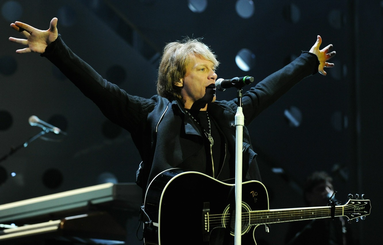 Фото обои музыка, гитара, рок, Bon Jovi