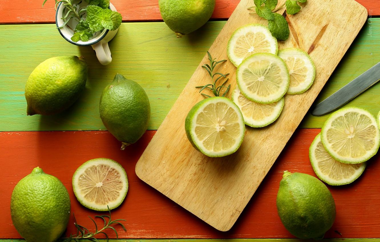 Обои плоды, лайм, фрукт. Еда foto 10