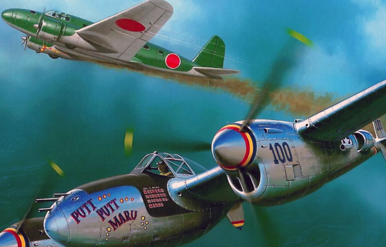 Обои локхид p-38, самолеты, американские. Авиация foto 11