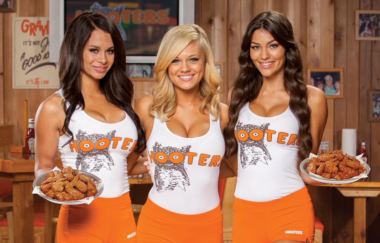 Фото обои Inc, hooters, Traditional uniform, Fried chicken wings, Advertising photo, Hooters of America