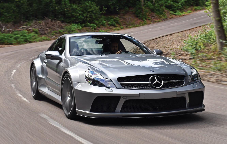 Фото обои car, авто, Mercedes-Benz, мерседес, road, AMG, speed, Black Series, SL 65