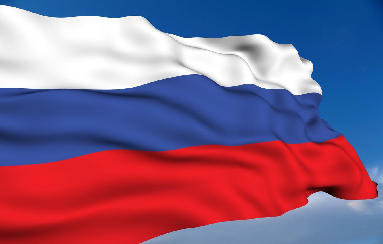 Фото обои флаг, россия, патриотические обои