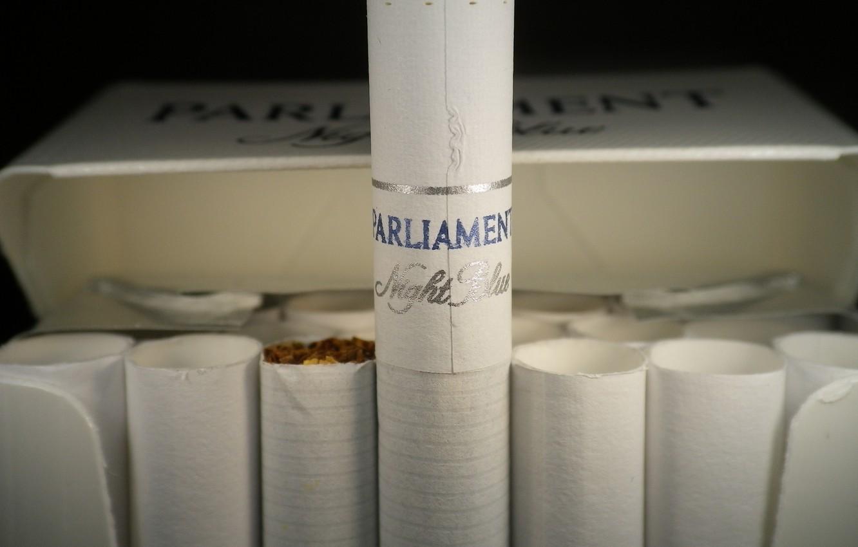 Фото обои пачка, бренд, сигареты, night blue, parliament, перевернутая сигарета