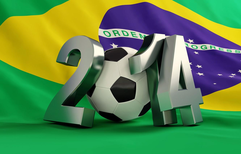 Фото обои football, flag, World Cup, Brasil, FIFA, 2014