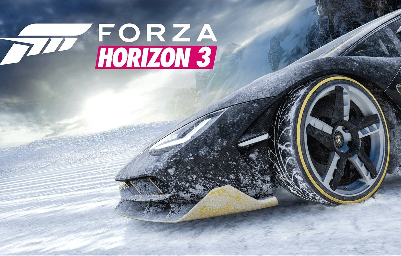 Фото обои Lamborghini, Game, Centenario, Forza Horizon 3