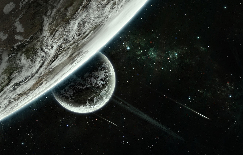 Фото обои stars, planet, sci fi