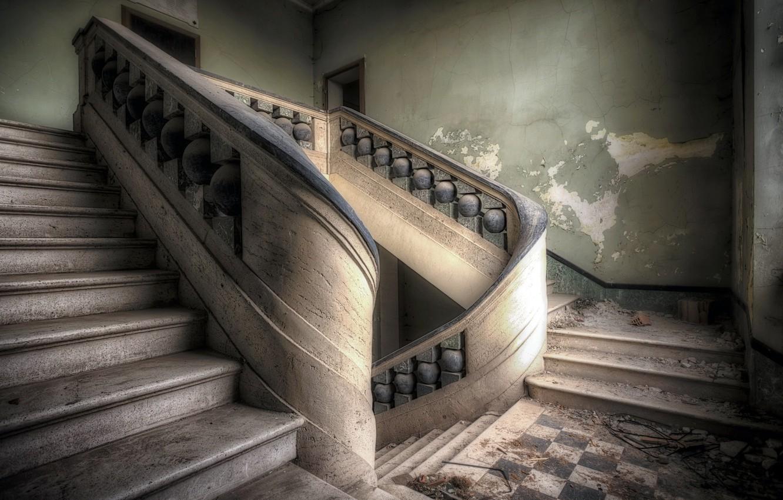 Фото обои стены, интерьер, лестница
