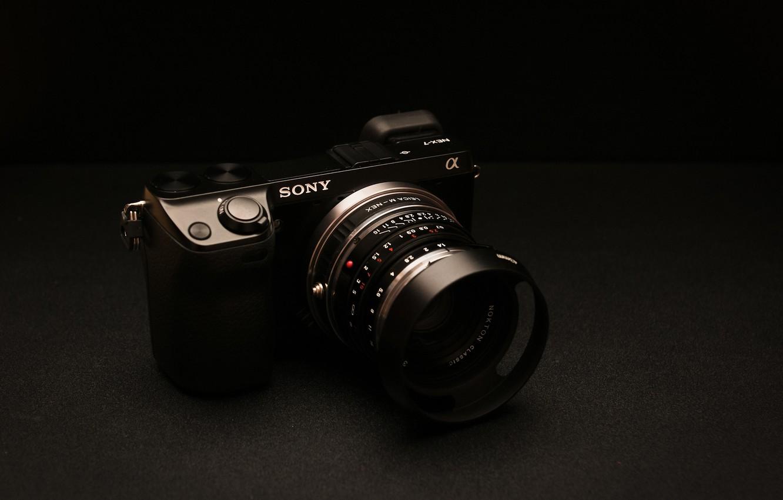 Фото обои фон, камера, Sony, NEX-7 Golden Brown Edition